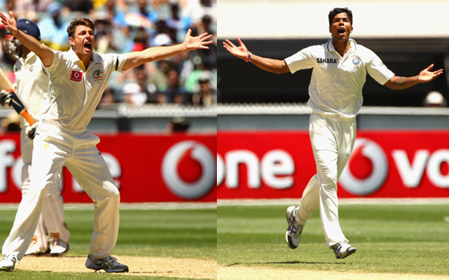 James Pattinson and Umesh Yadav