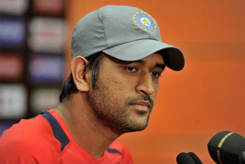 MS Dhoni speaking to the press after first test defeat against Australia at Melbourne
