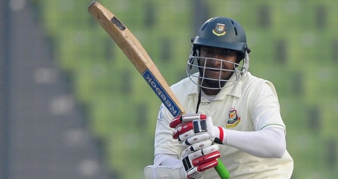 Bangladesh's Shakib Al Hasan was declared Player of the Match