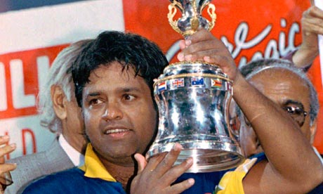 Arjuna Ranatunga with 1996 World Cup