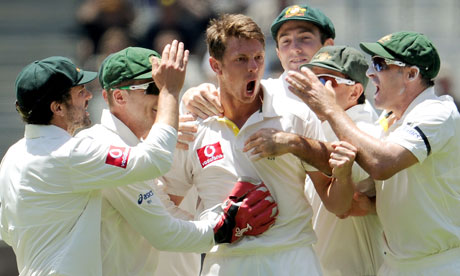 Australia Cricket Team Celebrates Victory over India in First Test at Melbourne