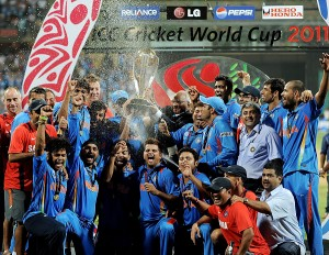 Indian Cricket Team after their historic 2011 World Cup win