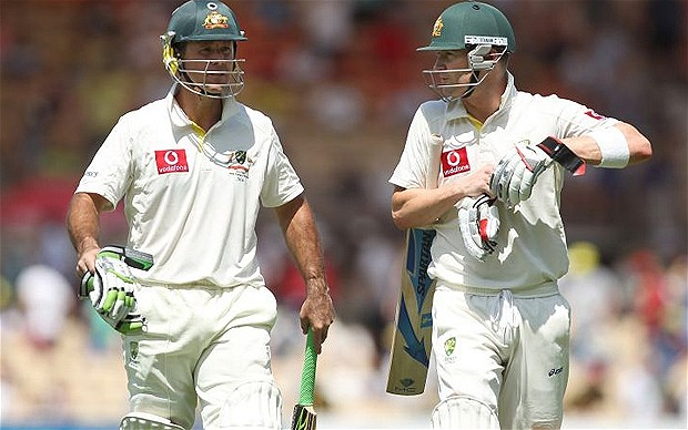 Ricky Ponting and Michael Clarke&#039;s Hundreds helped Australia to secure their position in the 4th Test against India at Adelaide Oval