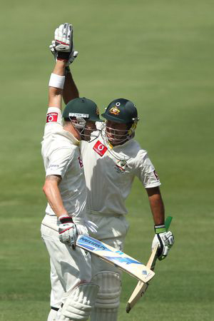 Ricky Ponting and Michael Clarke scored Double Centuries each against India in the 4th Test at Adelaide Oval