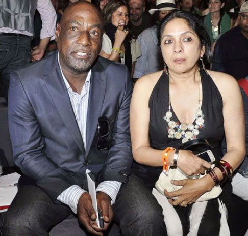 Vivian Richards and Neena Gupta