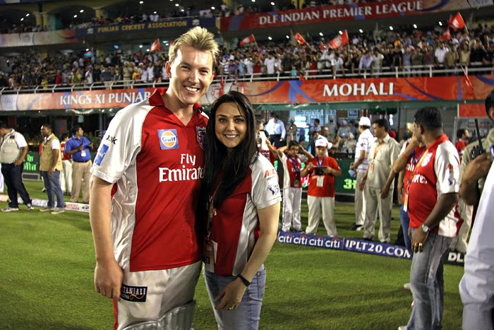 Brett Lee with Preity Zinta