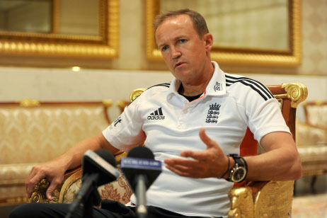 England Coach Andy-Flower pleased with his team's performance