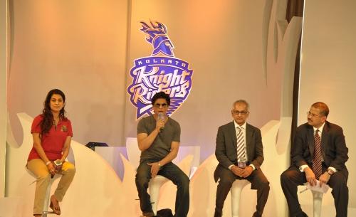 Kolkata Knight Riders Owners Juhi Chawla, Shahrukh Khan, Jay Mehta and Venky Mysore