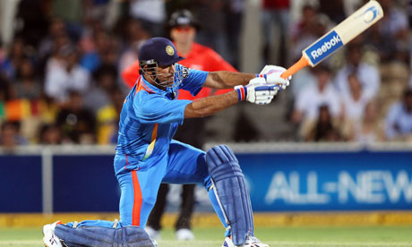 MS Dhoni scored 58 in the tie match against Sri Lanka