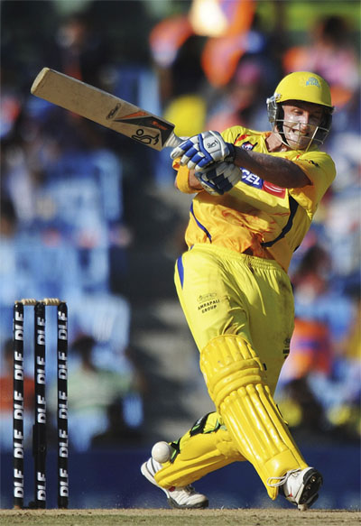 Michael Hussey  played for Chennai Super Kings in IPL 2008