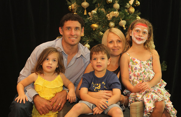 Michael Hussey with his Family