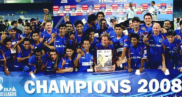Rajasthan Royals won IPL 2008 Championship