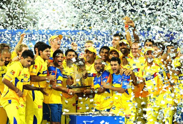 Chennai Super Kings Winners of IPL 2010 Championship