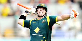 David Warner celebrates his maiden ODI ton