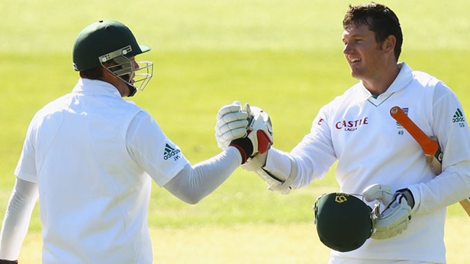 Graeme Smith and Jacques Kallis - tons in the first Test