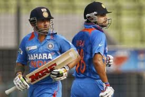 Virat Kohli and Gautam Gambhir - tons vs. Sri Lanka