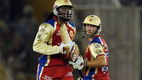 Chris Gayle and AB de Villliers - Snatched the match from the jaws of Kings XI Punjab