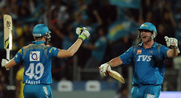 Jesse Ryder and Steven Smith - Match winning unbroken partnership of 66 runs