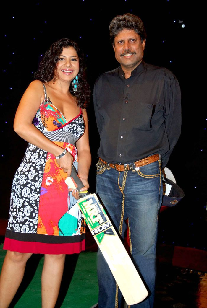 Sambhavna Seth with Kapil Dev