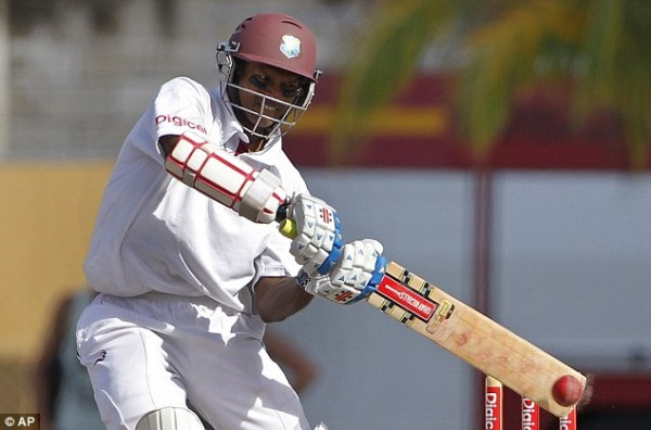 Shivnarine Chanderpaul's ton put West Indies in command