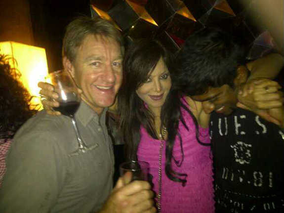 Simran Sood in late night party with Aussie Andy Bichel