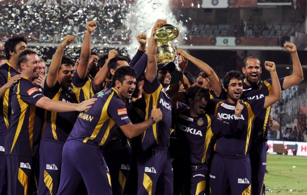 Kolkata KnightR iders - The proud winners of the IPL 2012