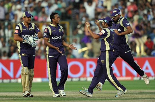 Shakib-Al-Hasan - Celebration by his team mates after his magnificent performance