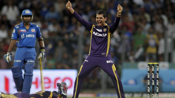 Sunil Narine - 'Player of the match' for his masterly spell of 4-15 runs.