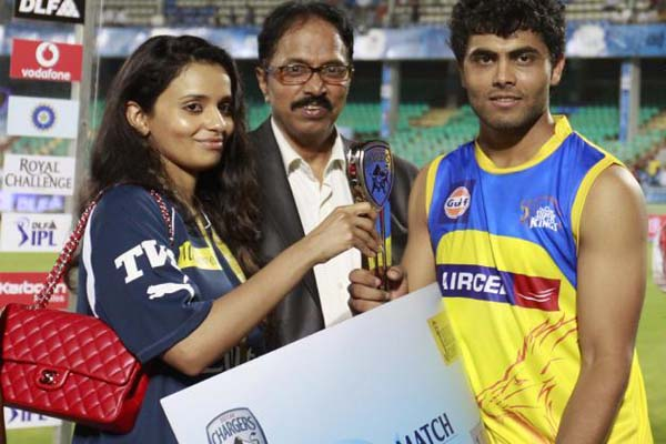 Jadeja, the man of the match vs. Deccan in Vizag