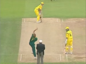 Australia are sent into bat first by Hansie Cronje