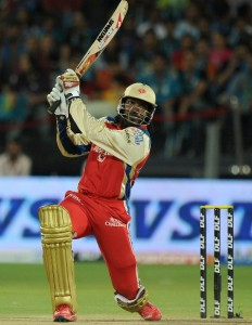 Gayle in Bangalore colours in the IPL
