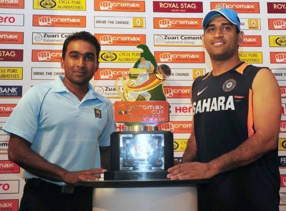 MS Dhoni and Mahela Jayawardene - fight for the supremacy in the ODI series
