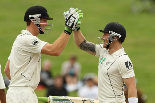Martin Guptill and Brendon McCullum - Match saving fifties by the duo
