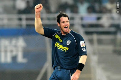Christian playing for Deccan in the IPL
