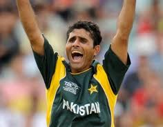 Razzaq in a World T20 2010 game
