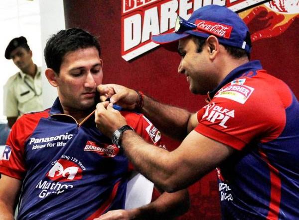 Virender Sehwag and Ajit Agarkar - Match winners for Delhi Daredevils