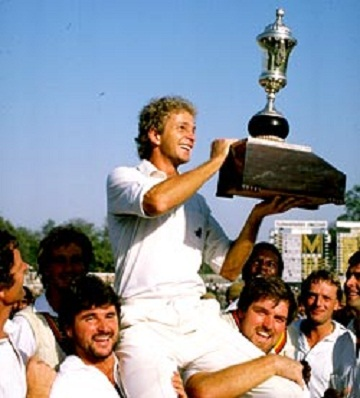 David Gower - After winning the 1984-85 series 2-1 vs. India