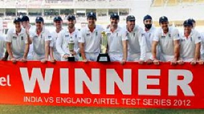 England squad after winning the series vs. India 2-1