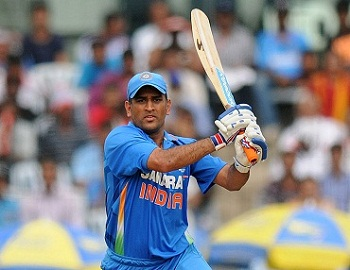 MS Dhoni - Highest run scorer fro India with unbeaten average of 167 runs