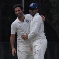 Parvez Rasool (left) - Seven wickets with his off spin bowling
