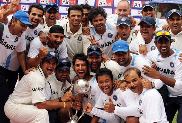 Team India - After winning the 2010-11 home series 2-0