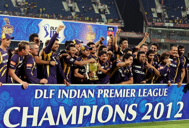 Kolkata Knight Riders with the IPL 2012, Trophy