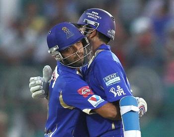 Ajinkya Rahane and Rahul Dravid - A match winning century stand