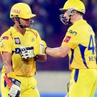 Michael Hussey and Suresh Raina - A splendid unbroken partnership of 140 from 76 mere balls