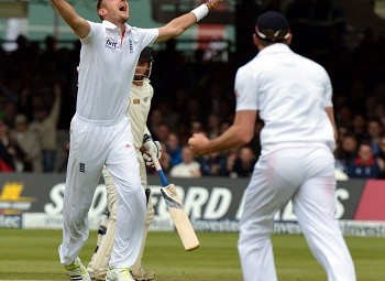 Stuart Broad - Career's best bowling figures of 7-44 in an innings