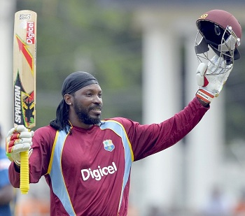 Chris Gayle - Blasted 109 from 100 mere balls