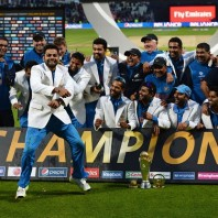 Team India - The winners of the 2013 ICC Champions Trophy