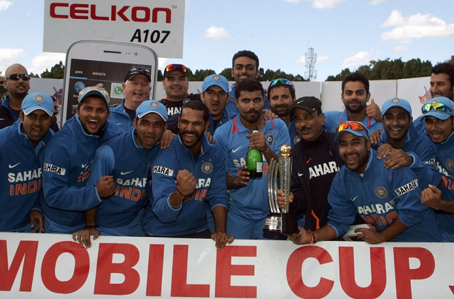 The Indian squad after clinching the series 5-0