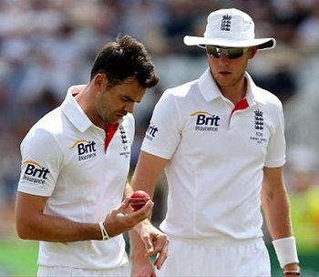 James Anderson and Stuart Broad - Destroyed the batting of Australia