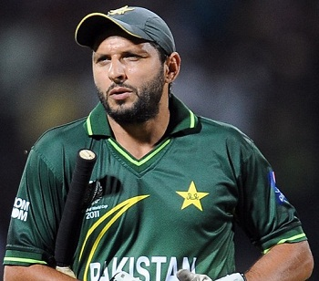Shahid Afridi - First T20 player to score 1000 runs and grab 50 wickets
